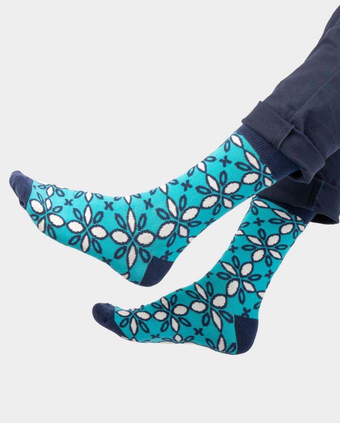 Ice Flowers kojinės, ant koju kvepiančios spalvotos kojinės, OhSox