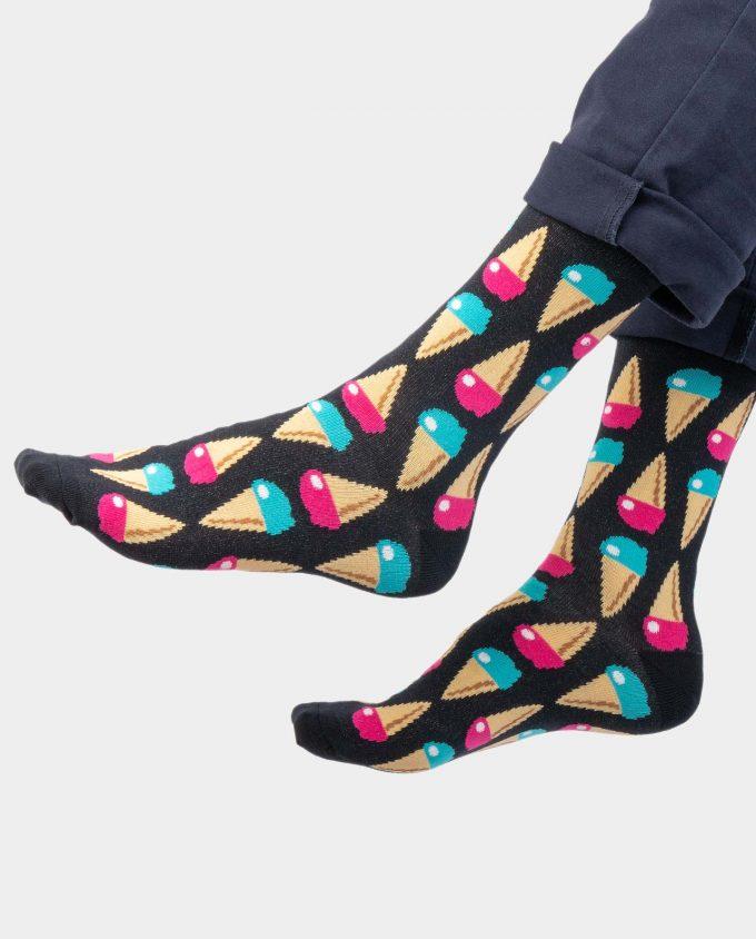IceCream kojinės, ant koju kvepiančios spalvotos kojinės, OhSox
