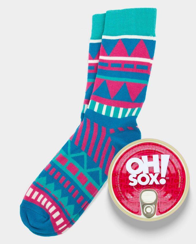 Oh Sox, Colorful scented socks Aruba Pink kvepiančios kojinės