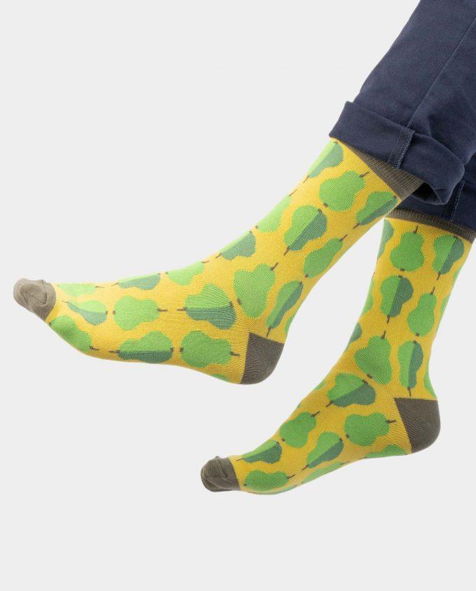 Pair of Pears kojinės, ant koju kvepiančios spalvotos kojinės, OhSox