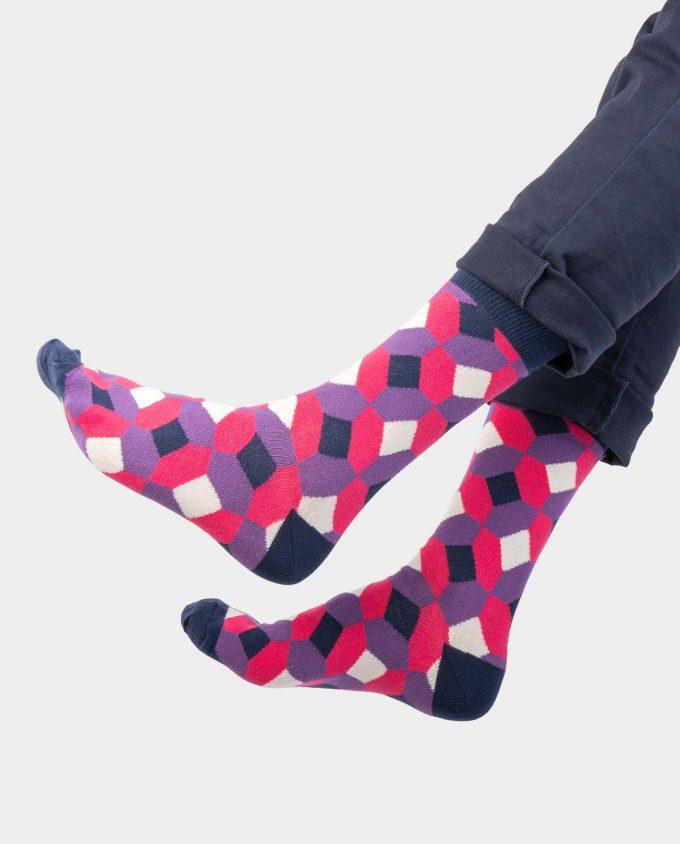 Rhombus kojinės, ant koju kvepiančios spalvotos kojinės, OhSox