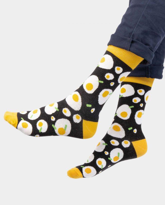 Egg kojinės, ant koju kvepiančios spalvotos kojinės, OhSox