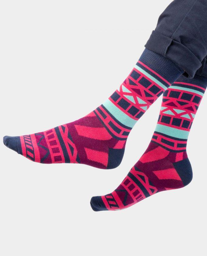 Nautical Rose kojinės, ant koju kvepiančios spalvotos kojinės, OhSox