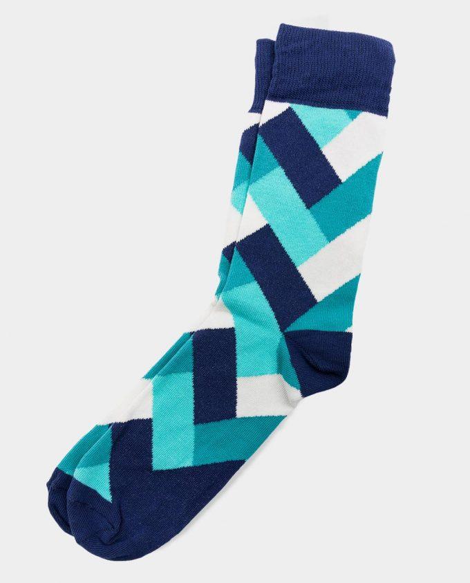 Oh Sox, spalvotos kojinės, raštuotos kojinės, Fresh Mint