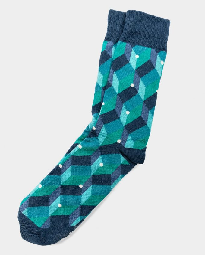 Oh Sox, spalvotos kojinės, raštuotos kojinės, Green Dot Cube