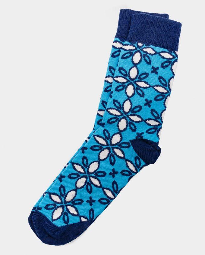 Oh Sox, spalvotos kojinės, raštuotos kojinės, Ice Flowers
