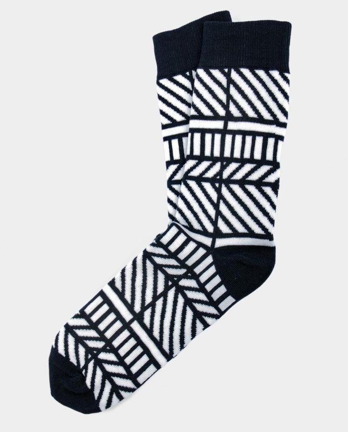 Oh Sox, spalvotos kojinės, raštuotos kojinės, Monochrome