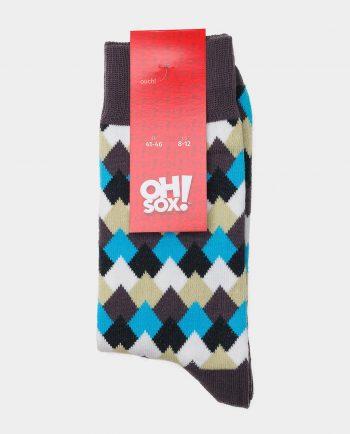Oh Sox, spalvotos kojinės, raštuotos kojinės, Mountain Tops, popierinė etiketė