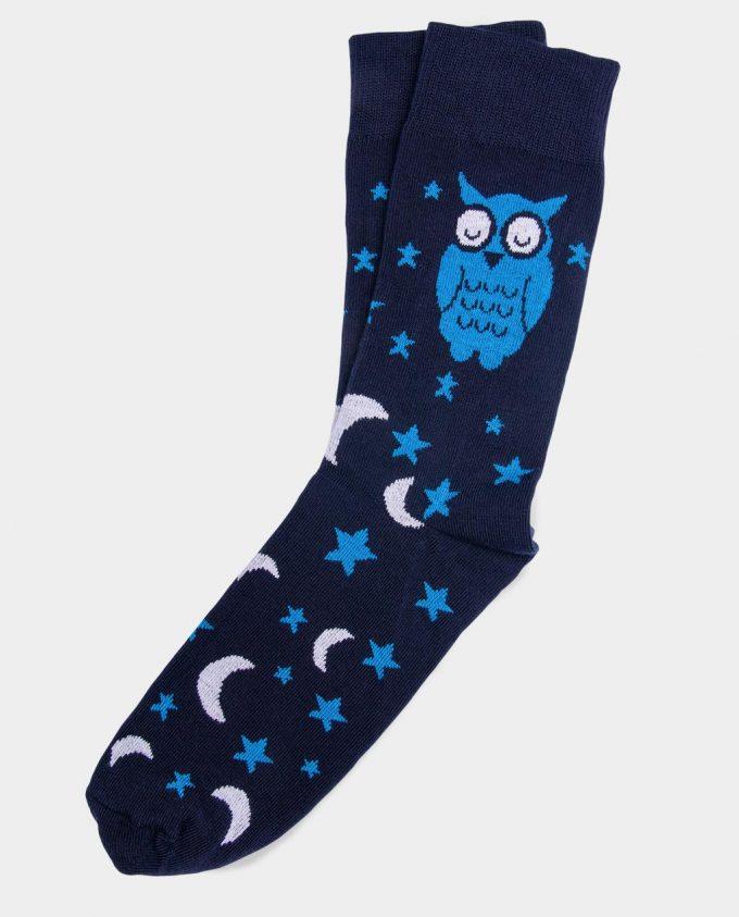 Oh Sox, spalvotos kojinės, raštuotos kojinės, Night time