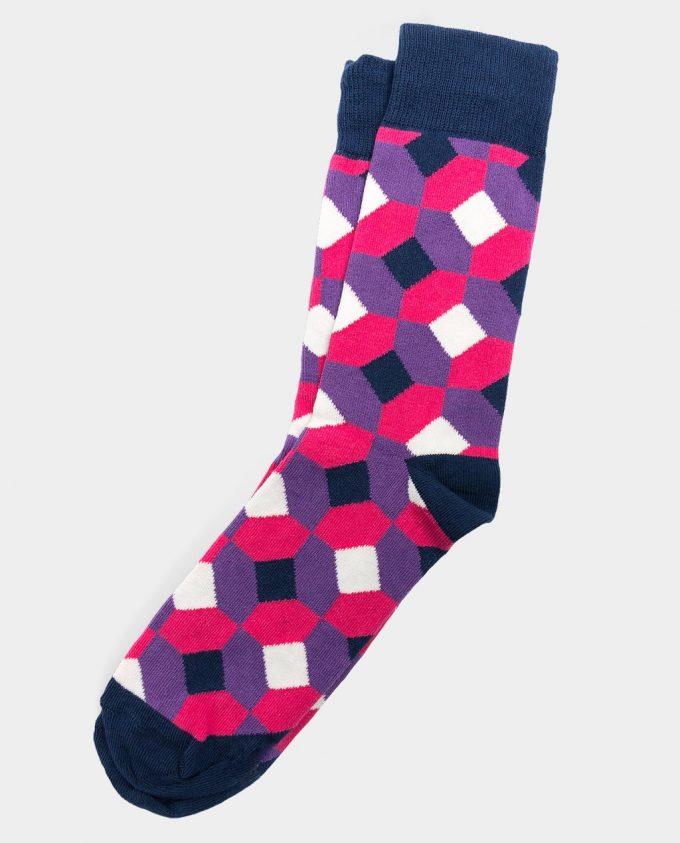 Oh Sox, spalvotos kojinės, raštuotos kojinės, Rhombus