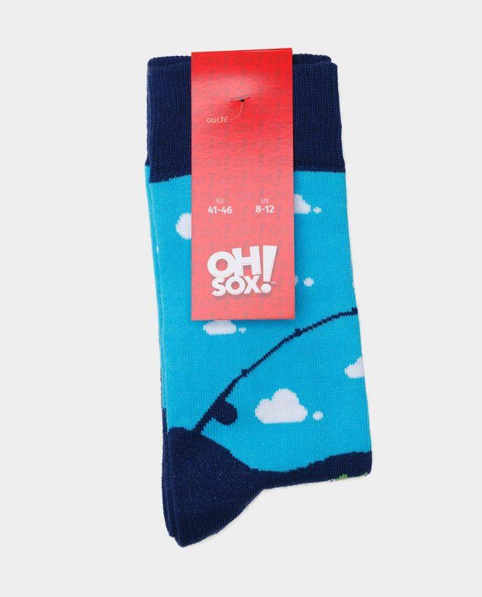 Oh Sox, spalvotos kojinės, raštuotos kojinės, popierinė etiketė, The Fisherman